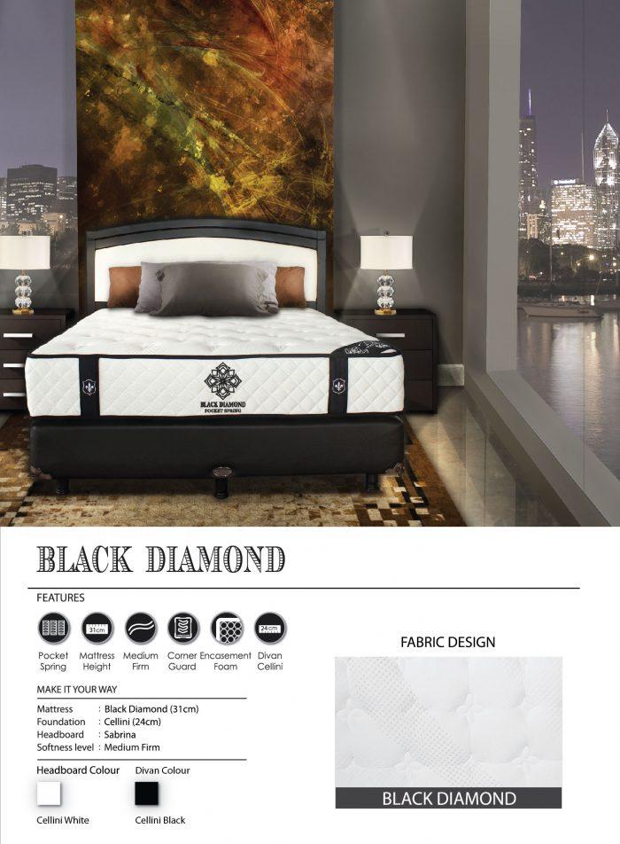 Central Spring Bed - Black Diamond