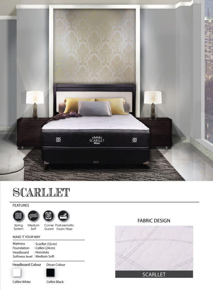 Central Spring Bed - Scarlet