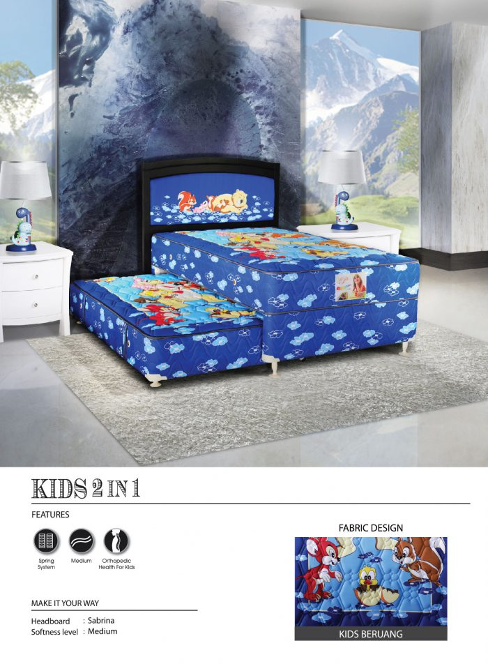 Central Spring Bed - Kids Beruang