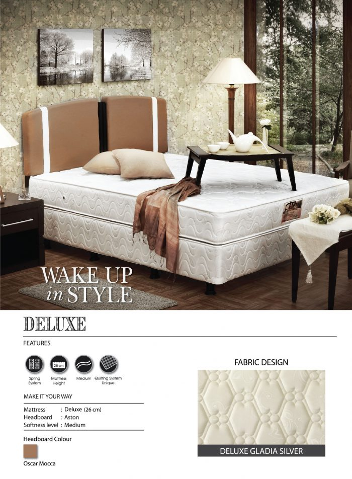 Central Spring Bed - Deluxe Gladia Silver