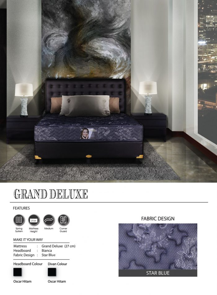 Central Spring Bed - Grand Deluxe Star Blue
