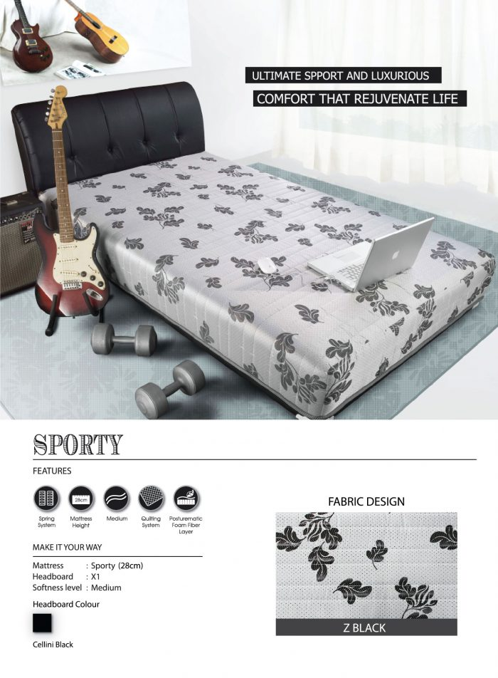 Central Spring Bed - Sporty Z Black