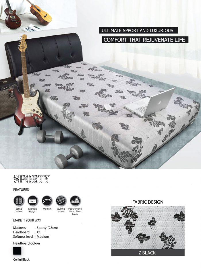 Central Spring Bed - Sporty Z Black