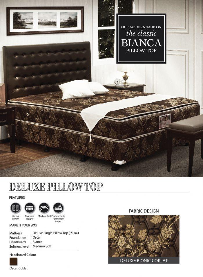 Central Spring Bed - Deluxe Bionic Cokelat