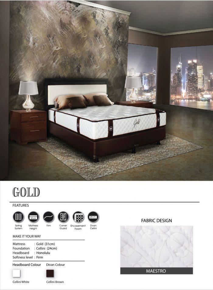 Central Spring Bed - Gold